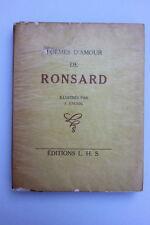 RONSARD-poemes d 'amour de Ronsard. ILLUSTRES PAR F. KNOERI.