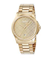 Gucci YA126461 G-timeless 38mm Gold-tone Stainless Steel Bracelet Unisex Watch
