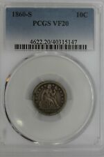 1860-S  .10  PCGS  VF20     Liberty Seated Dime, 10C, ,