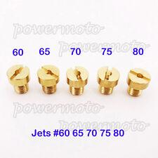 Carb Jets #60 65 70 75 80 5mm For Dellorto SHA PHBG Tomos A35 Targa LX Sprint