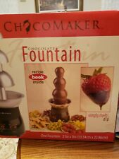 Chocomaker 4lb Chocolate Fountain, Blackw/ Stainless Bowls BRAND NEW NEVER USED