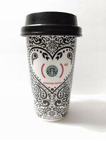 STARBUCKS Jonathan Adler RED 12 oz Coffee Tumbler Travel Mug Cup  2010 RARE EUC