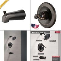 Delta Windemere 1-Handle Tub and Shower Faucet Trim Kit in Oil Rubbed Bronze