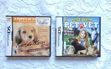 Nintendo DS Games ~  Pet Vet & Nintendogs Dachshund & Friends