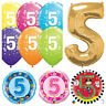 Age 5 - Happy 5th Birthday Qualatex Balloons {Helium Party Balloons Boy/Girl}
