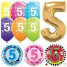 Moins de 5 ans Joyeux 5ème Anniversaire Qualatex Ballons {Hélium Ballons Fête