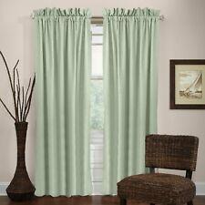 "Veratex Madison Window Collection 100% Linen Rod Pocket Window Panel, Sage, 63"""