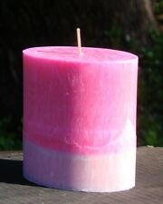 80hr PINK GRAPEFRUIT Zesty Citrus Scented Stylish Oval UPLIFTING NATURAL CANDLE