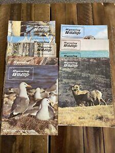 1970 Wyoming Wildlife Magazine Wyoming Game & Fish Comm. Publication VG Lot Of 9