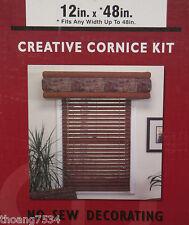 "12"" X 48"" CREATIVE CORNICE KIT Foam Valance Drapery Fabric Window Treatment"