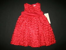"""NEW """"RED GLIMMER"""" Holiday Dress Girls 18m Winter Boutique Clothes Christmas 1 pc"""