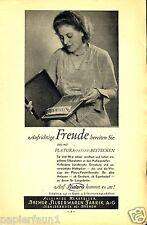 Silberwaren Platura Bremen Sebaldsbrück Reklame 1932 Besteck Fabrik Reklame Ad