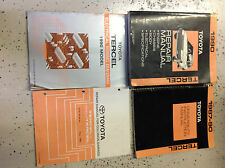 1990 TOYOTA TERCEL Service Shop Repair Manual Set W EWD + COLLISION +DRIVEABILIT