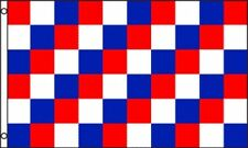 3'x5' CHECKERED FLAG RED, WHITE & BLUE OUTDOOR INDOOR BANNER PENNANT SPORTS 3X5