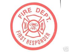 FIRST RESPONDER - FIRE DEPARTMENT Highly Reflective DECAL