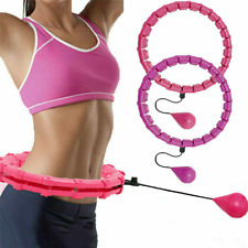 24 Knots Weighted Hula Hoop Adult Smart Hula Fitness Weight Loss READ DESCRIPTIO