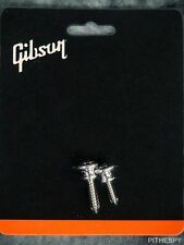 NEW GENUINE GIBSON GUITAR ALUMINUM STRAP BUTTONS SCREWS LES PAUL ES-335 175 SG