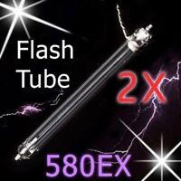 2X 2pcs Canon 580EX 580EX II Flash Tube Xenon Lamp Repair Blitz Lampe speedlight