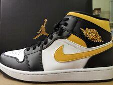 Nike Air Jordan 1 Mid pollen EU 45,5 White/black/pollen with og box