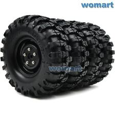 4pc RC 1.9 Rock Crawler Tires 108mm & Wheels rims Hex 12mm For 1/10 RC 4WD Axial