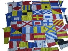 MARINE Navy MILITARY Signal Code FLAG Set - 100% COTTON -Set of Total 50 flags