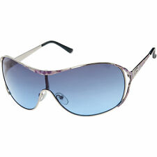 Womens GUESS Blue & Silver Tone Shield Sunglasses  RRP £80.00