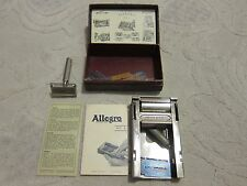 Vtg Allegro Model L Honing & Stropping Machine safety razor blades, Switzerland