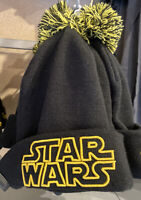 DISNEY PARKS STAR WARS Beanie Pom Cap Black NEW