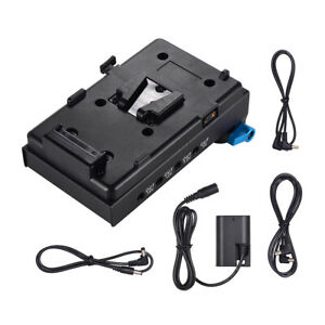 Andoer VMount Battery Adapter Plate+15mm Dual Hole Rod Clamp for BMCC Canon P5P1
