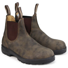 9d5879bfa929 Blundstone 585 Mens Rustic Brown Leather Classic Dealer Chelsea BOOTS US 9