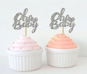 Darling Souvenir, Oh Baby Cupcake Toppers, Baby Shower Party Dessert-Ol5
