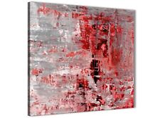 Red Grey Painting Bathroom Canvas Wall Accessories - Abstract 1s414s - 49cm