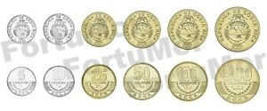 Costa Rica 6 Coins SET, 5 10 25 50 100 500 Colones, UNC, 2001 2008
