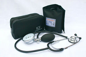 ICE Medical Aneroid Adult Blood Pressure Kit - Sphygmomanometer 1 cuff included