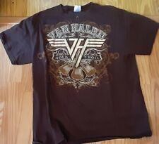 Men's Large Van Halen Brown T Shirt
