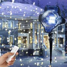 Christmas Snowing LED Laser Light Snowflake Laser Landscape Projector Lamp