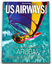 Vintage US AIRWAYS Magazine Airline In Flight Aruba Cover March 2007 Very Good