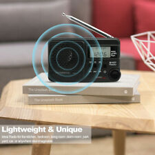 Portable FM/AM/SW Radio Rechargeable Sleep Timer Alarm MP3 Player Shortwave UK