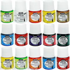 PEBEO VITRAIL GLASS PAINT STAINED, OPALE OPAQUE TRANSPARENT COLOURS 45ml AIR DRY