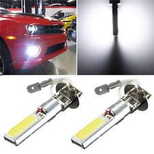 2Pcs H3 COB LED Bright Xenon White 6000K Car Auto Fog Light Lamp Bulb 12V New