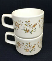 Lenox TemperWare Merriment Flat Cups Set Of 2  Stackable 8 Oz Made In USA