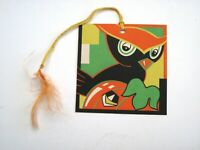 "Vintage Art Deco ""Halloween"" Bridge Tally w/ Cute Owl & Pumpkin - Unused (H)*"