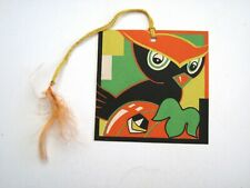 "Vintage Art Deco ""Halloween"" Bridge Tally w/ Cute Owl & Pumpkin - Unused (A)*"