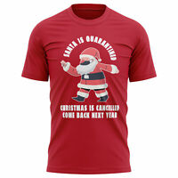 Santa is Quarantined Lockdown Christmas T Shirt, Funny T Shirts for Men Gifts