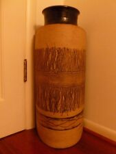 """VINTAGE UMBRELLA STAND.SIGNED BY ARTIST.POTTERY.CLAY.HANDMADE..24"""" TALL.LARGE"""