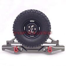 Axial SCX10 CNC Machined Aluminum Rear Bumper With Spare Tire Carrier Gun Metal