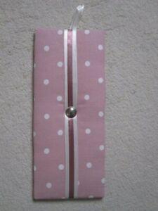 Fabric Ribbon Notice Board/Memo Board Rectangular Pink