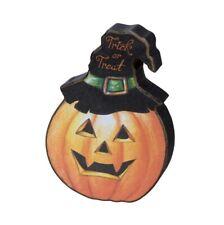 Chunky Shelf Sitter Trick Or Treat Pumpkin, Halloween, Fall, Autumn, New W/ Tags