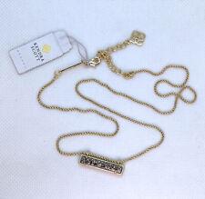 New Kendra Scott Leanor Pendant Necklace In Platinum Drusy / Matte Gold