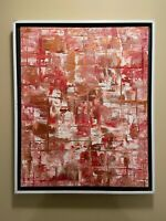 Copper and Red Abstract original modern acrylic canvas painting | ships free